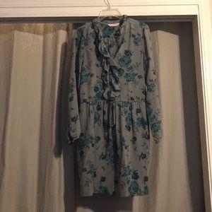 Rebecca Taylor beautiful Floral 100% silk Dress 6